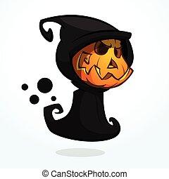 reaper, dessin animé, sinistre