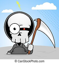 reaper, dessin animé, terrifiant, sinistre