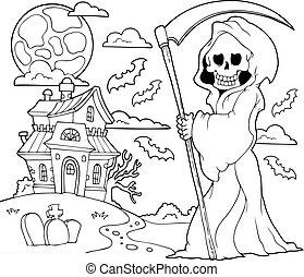 reaper, thème, 2, noir, blanc, sinistre