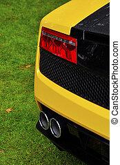 Rear detail of an Italian supercar
