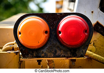 Rear lamp of tractor