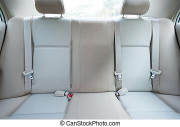 rear line seats interior of modern car