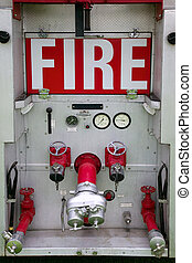 Rear of fire engine