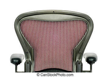 Rear of the Backrest of an Office Chair - Rear view of the...