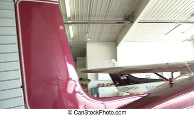 Rear Pan of Maroon Airplane
