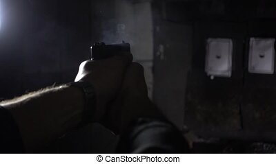 rear side angle of shooting in super slow motion