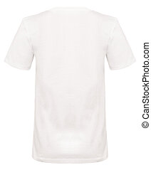 Rear-view Cut-out of Plain White Shirt on Invisible Mannequin