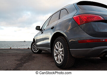 Rear view of a luxury SUV
