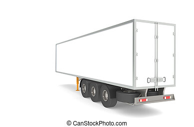 Trailer - Rear view of a Trailer. Copy space. Part of...