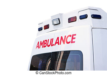 rear view of an emergency ambulance