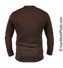 Rear view of brown shirt