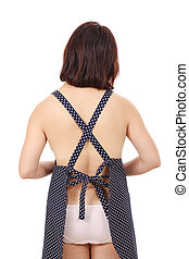 rear view of sexual woman
