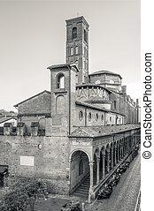 Rear view of the monumental complex of San Giacomo Maggiore....