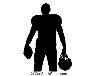 rear view of young confident American football player