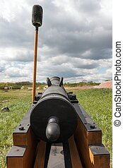 Rear view old cannon