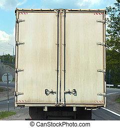 rear view on the body cargo van
