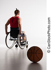 basketball player in wheelchair