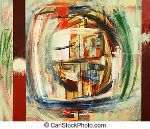 Rear Window - an abstract painting