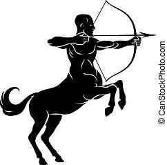 Rearing Centaur Archer - Centaur concept of mythical centaur...