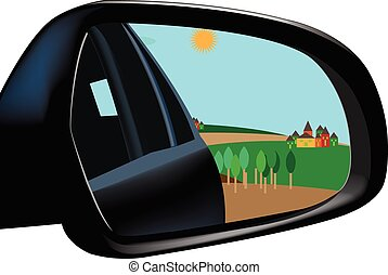 Rearview Mirror - accessory car rearview mirror with image...