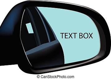 Rearview Mirror advertising - rear-view mirror of a car that...