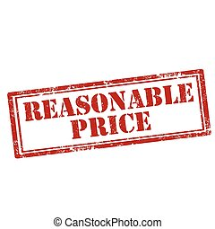 Reasonable Price-stamp - Grunge rubber stamp with text...