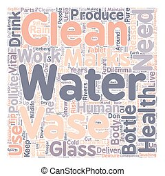 Reasons Why We Need To Clean Water text background wordcloud concept