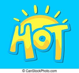 summer hot symbol - reative design of summer hot symbol