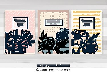 reative vector cards - Set of Isolated creative background ...