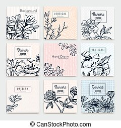 ?reative vector cards - Set of Isolated creative background ...