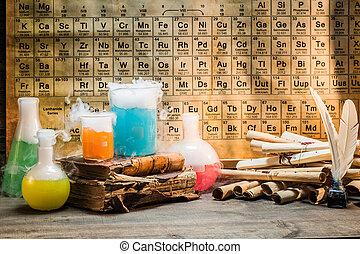 reazioni, ricerca, basato, ricette, chimico, nuovo, vecchio