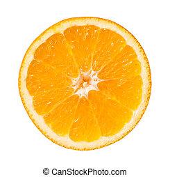 rebanada de naranja, aislado