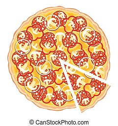 rebanada, pizza