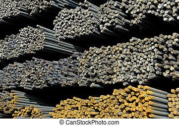Rebar 2 - A railcar load of reinforcement steel used in...