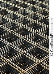 Rebar mesh - Rebar in a construction site