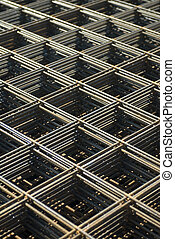 Rebar mesh - Rebar in a construction site