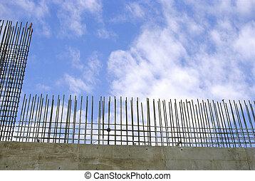Rebar wall construction
