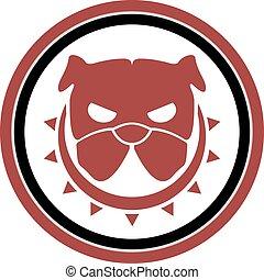 rebel dog icon - Creative design of rebel dog icon