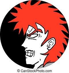 rebel face - creative design of rebel face