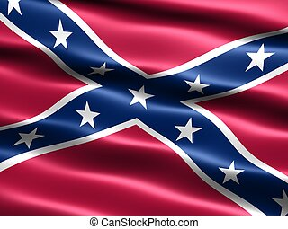 Rebel flag - Computer generated illustration of the the...