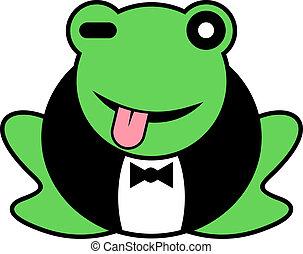 Rebel frog - Creative design of rebel frog