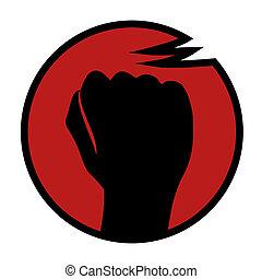 Rebel sign - Creative design of rebel sign