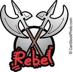 rebelde, medieval, arma