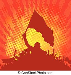 rebellion - background with demonstrators