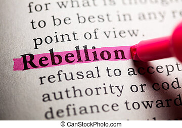 rebellion - Fake Dictionary, Dictionary definition of the...