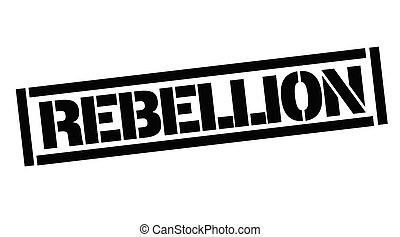Rebellion typographic stamp