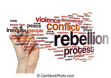 Rebellion word cloud