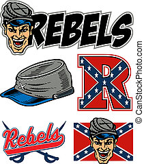 collection of rebels team logos
