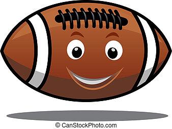 rebondir, boule football américain