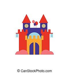 rebondir, illustration, château